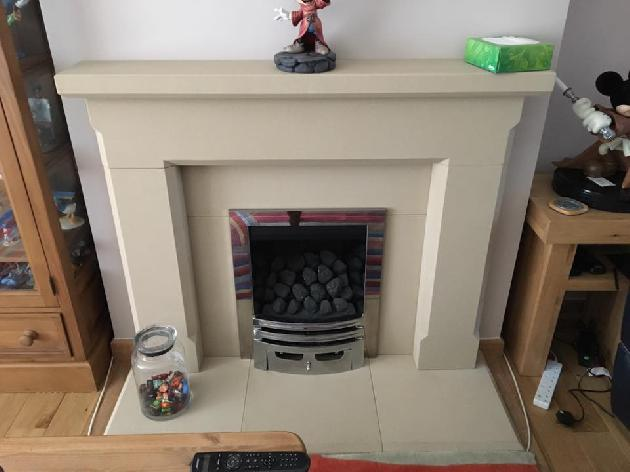 INSET GAS FIRE WITH STONE SURROUND BINLEY COVENTRY